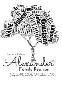 2015 Alexander Family Reunion Registration